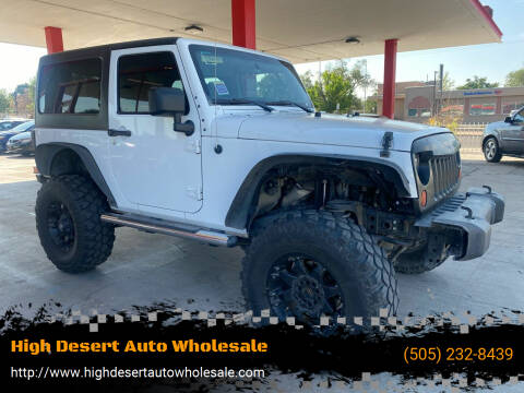2013 Jeep Wrangler for sale at High Desert Auto Wholesale in Albuquerque NM