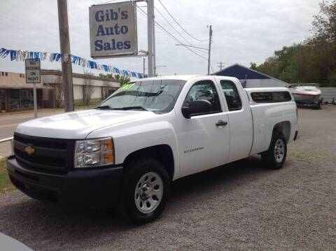 2013 Chevrolet Silverado 1500 for sale at GIB'S AUTO SALES in Tahlequah OK
