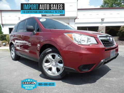 2014 Subaru Forester for sale at IMPORT AUTO SALES in Knoxville TN
