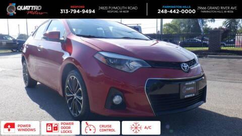 2016 Toyota Corolla for sale at Quattro Motors 2 in Farmington Hills MI
