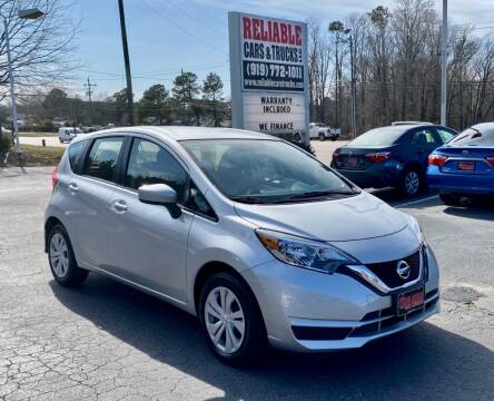 2017 Nissan Versa Note for sale at Reliable Cars & Trucks LLC in Raleigh NC