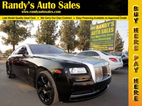 2014 Rolls-Royce Wraith for sale at Randy's Auto Sales in Ontario CA
