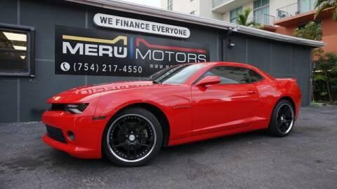 2015 Chevrolet Camaro for sale at Meru Motors in Hollywood FL