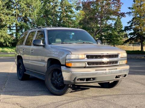 2002 Chevrolet Tahoe for sale at H&W Auto Sales in Lakewood WA