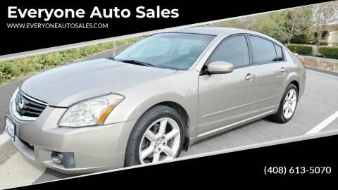 2007 Nissan Maxima for sale at Everyone Auto Sales in Santa Clara CA