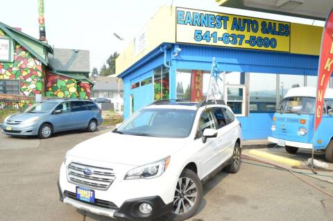 2017 Subaru Outback for sale at Earnest Auto Sales in Roseburg OR