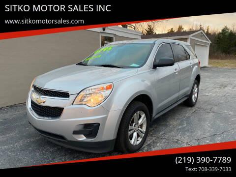 2011 Chevrolet Equinox for sale at SITKO MOTOR SALES INC in Cedar Lake IN