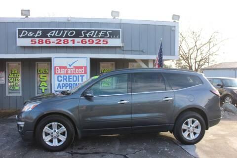 2013 Chevrolet Traverse for sale at D & B Auto Sales LLC in Washington Township MI
