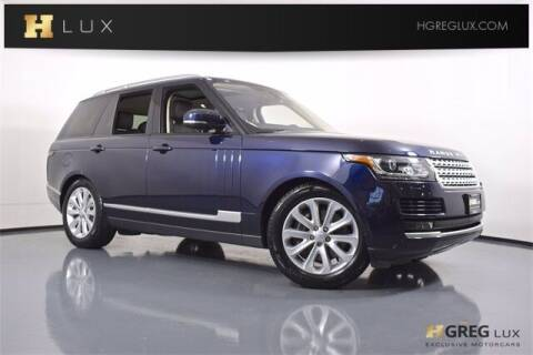 2017 Land Rover Range Rover for sale at HGREG LUX EXCLUSIVE MOTORCARS in Pompano Beach FL