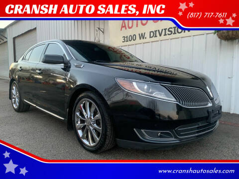 2014 Lincoln MKS for sale at CRANSH AUTO SALES, INC in Arlington TX