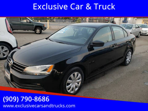 2016 Volkswagen Jetta for sale at Exclusive Car & Truck in Yucaipa CA