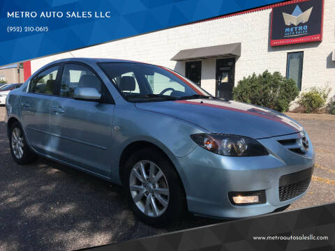 2008 Mazda MAZDA3 for sale at METRO AUTO SALES LLC in Blaine MN
