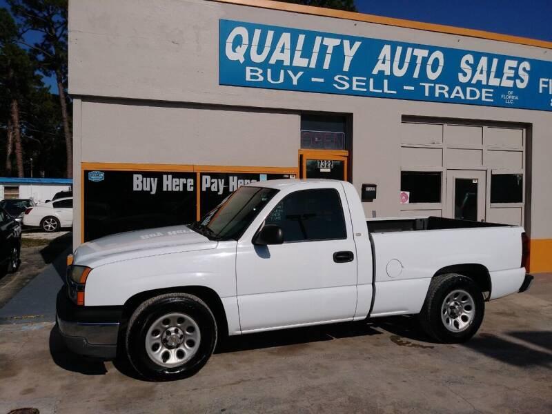 2005 Chevrolet Silverado 1500 for sale at QUALITY AUTO SALES OF FLORIDA in New Port Richey FL