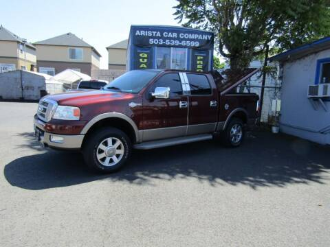 2005 Ford F-150 for sale at ARISTA CAR COMPANY LLC in Portland OR