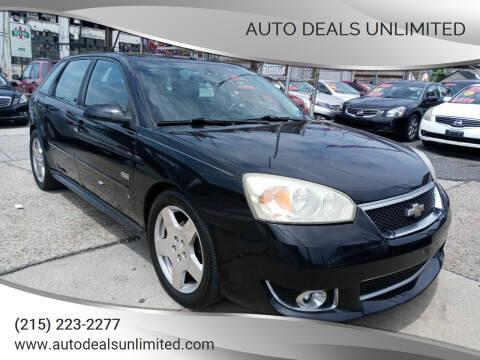 2006 Chevrolet Malibu Maxx for sale at AUTO DEALS UNLIMITED in Philadelphia PA