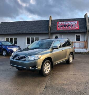 2008 Toyota Highlander for sale at Stephen Motor Sales LLC in Caldwell OH