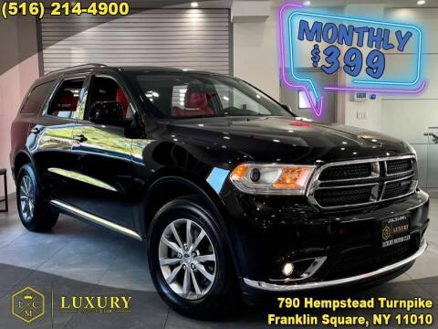 2018 Dodge Durango for sale at LUXURY MOTOR CLUB in Franklin Square NY