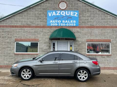 2012 Chrysler 200 for sale at VAZQUEZ AUTO SALES in Bloomington IL
