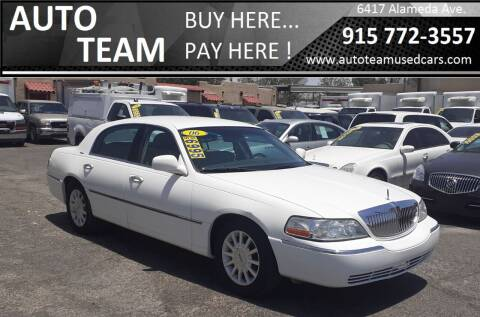 2006 Lincoln Town Car for sale at AUTO TEAM in El Paso TX