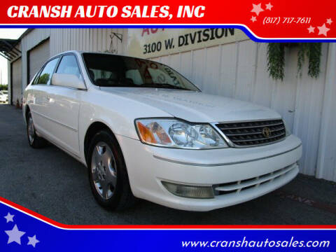2004 Toyota Avalon for sale at CRANSH AUTO SALES, INC in Arlington TX