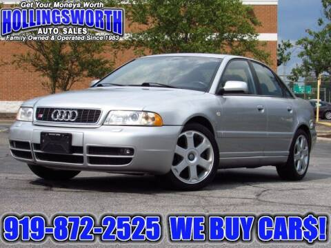 2000 Audi S4 for sale at Hollingsworth Auto Sales in Raleigh NC