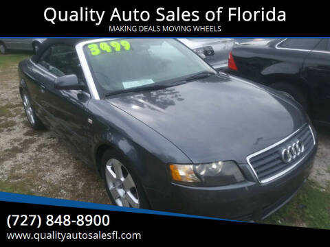 2006 Audi A4 for sale at QUALITY AUTO SALES OF FLORIDA in New Port Richey FL