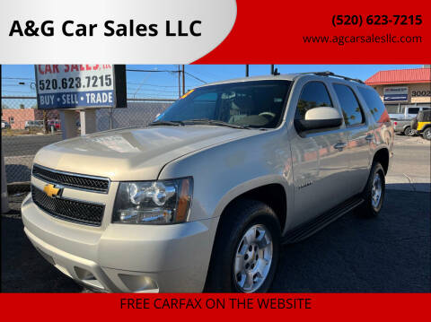 2012 Chevrolet Tahoe for sale at A&G Car Sales  LLC in Tucson AZ