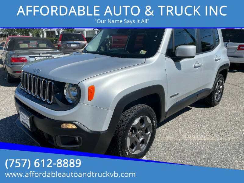 2015 Jeep Renegade for sale at AFFORDABLE AUTO & TRUCK INC in Virginia Beach VA