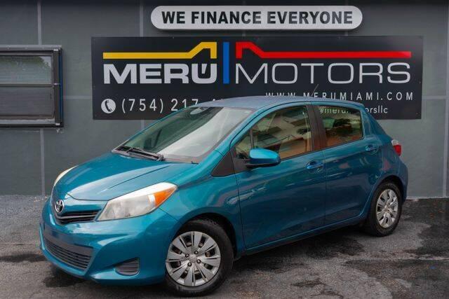 2013 Toyota Yaris for sale at Meru Motors in Hollywood FL