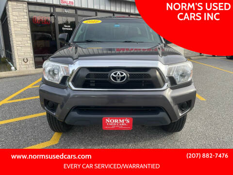2012 Toyota Tacoma for sale at NORM'S USED CARS INC in Wiscasset ME