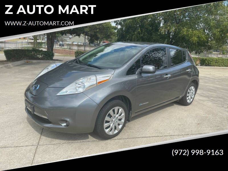 2015 Nissan LEAF for sale at Z AUTO MART in Lewisville TX