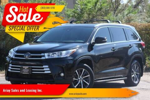 2018 Toyota Highlander for sale at Ariay Sales and Leasing Inc. - Pre Owned Storage Lot in Glendale CO