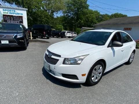 2013 Chevrolet Cruze for sale at Sports & Imports in Pasadena MD
