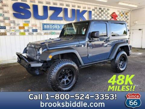 2016 Jeep Wrangler for sale at BROOKS BIDDLE AUTOMOTIVE in Bothell WA