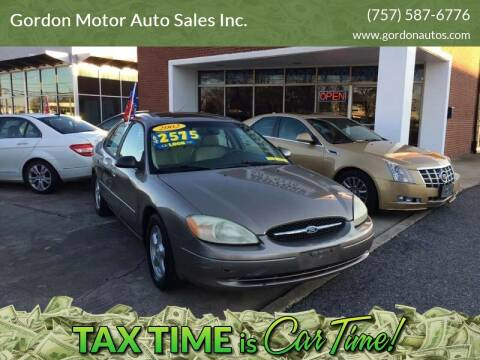2002 Ford Taurus for sale at Gordon Motor Auto Sales Inc. in Norfolk VA