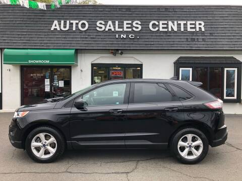 2018 Ford Edge for sale at Auto Sales Center Inc in Holyoke MA