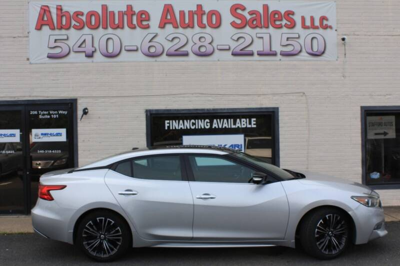 2016 Nissan Maxima for sale at Absolute Auto Sales in Fredericksburg VA