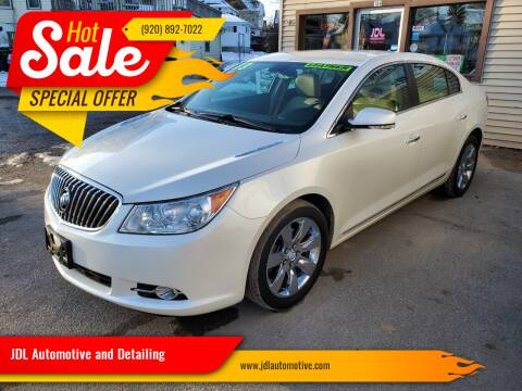 2013 Buick LaCrosse for sale at JDL Automotive and Detailing in Plymouth WI