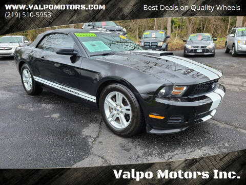 2012 Ford Mustang for sale at Valpo Motors Inc. in Valparaiso IN