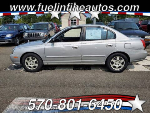 2003 Hyundai Elantra for sale at FUELIN FINE AUTO SALES INC in Saylorsburg PA