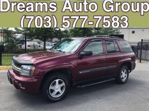 2004 Chevrolet TrailBlazer for sale at Dreams Auto Group LLC in Sterling VA