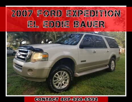 2007 Ford Expedition EL for sale at AFFORDABLE ONE LLC in Orlando FL