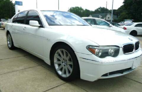 2003 BMW 7 Series for sale at Pars Auto Sales Inc in Stone Mountain GA