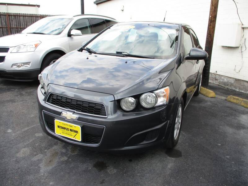 2013 Chevrolet Sonic for sale at Metroplex Motors Inc. in Houston TX
