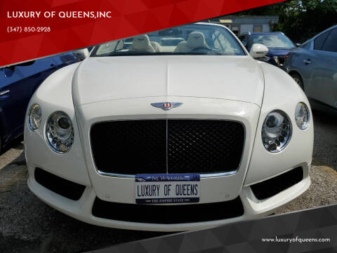 2013 Bentley Continental for sale at LUXURY OF QUEENS,INC in Long Island City NY