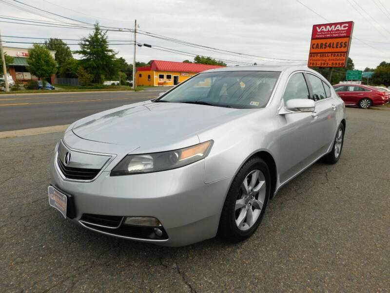 2012 Acura TL for sale at Cars 4 Less in Manassas VA