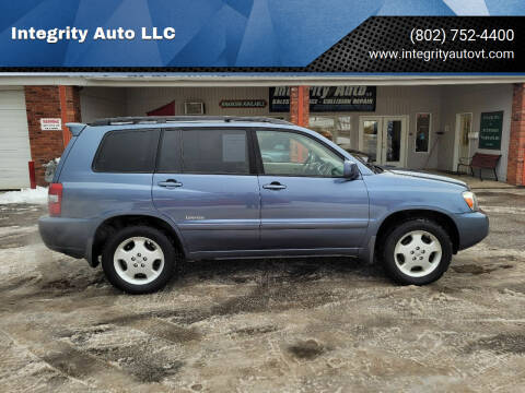 2006 Toyota Highlander for sale at Integrity Auto LLC - Integrity Auto 2.0 in St. Albans VT