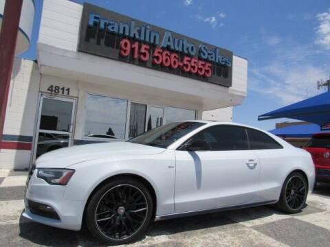 2016 Audi A5 for sale at Franklin Auto Sales in El Paso TX