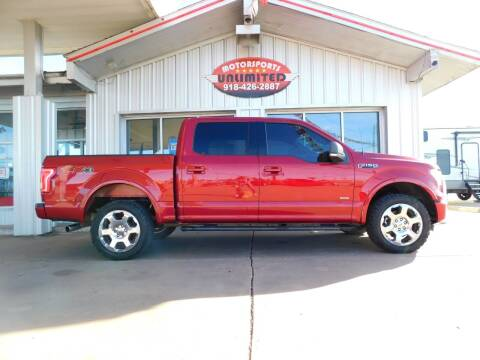 2016 Ford F-150 for sale at Motorsports Unlimited in McAlester OK