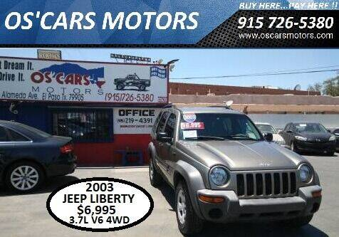 2003 Jeep Liberty for sale at Os'Cars Motors in El Paso TX